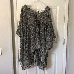 Sheer Abercrombie & Fitch high low top